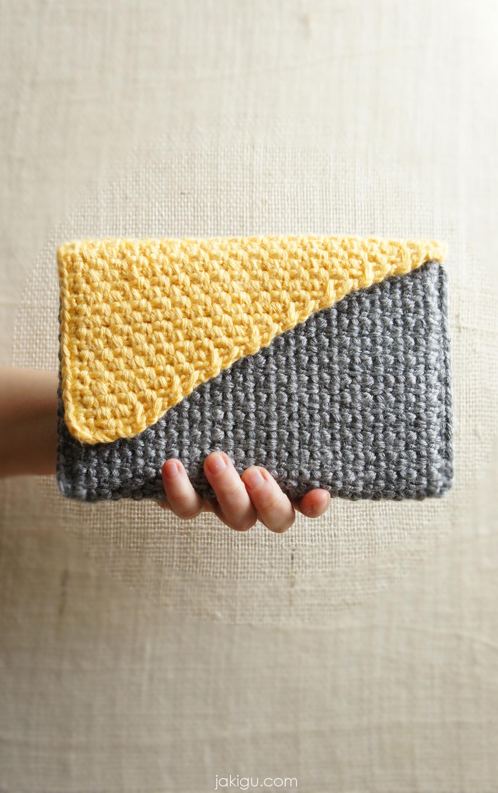 Free Crochet Book Cover Patterns ~ Crochet handbag crochet pattern preview by jakigu