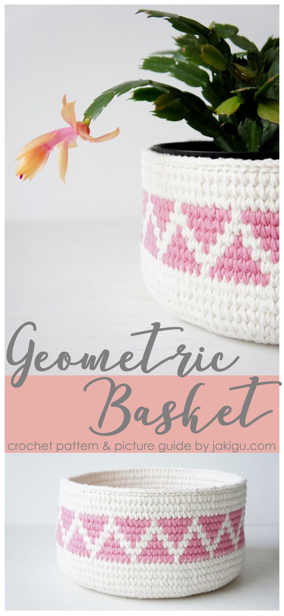 Geometric Crochet Basket Pattern by JaKiGu