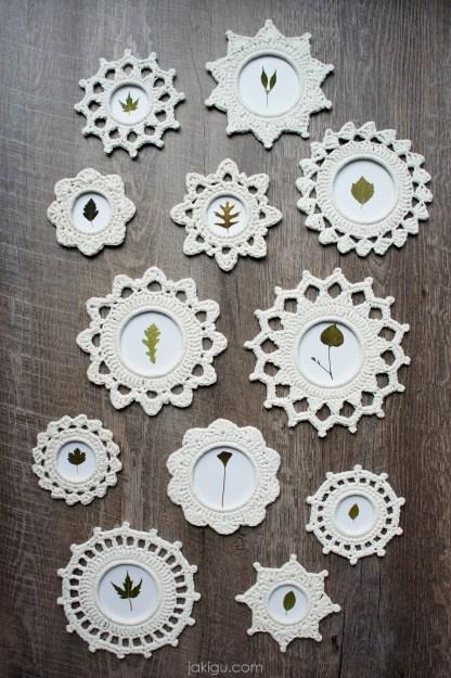 Crochet picture frame pattern collection | jakigu.com