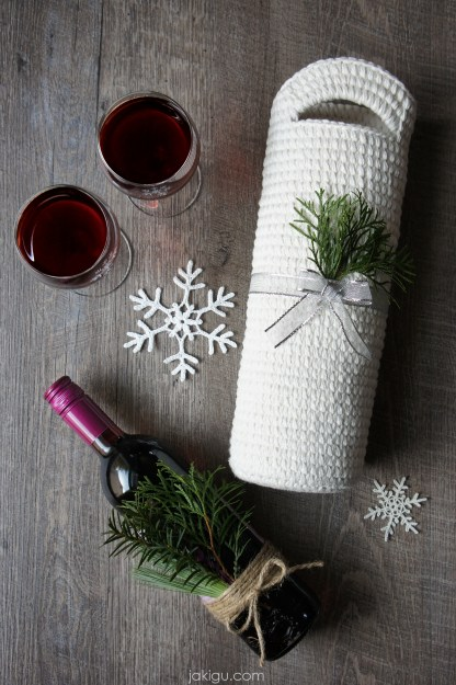 Crochet Wine or Liquor Bag - jakigu.com crochet pattern