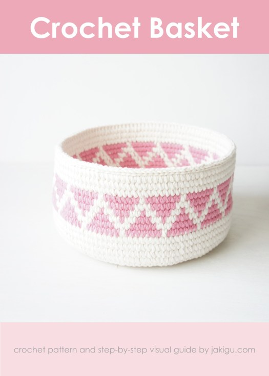 Crochet basket pattern by jakigu.com