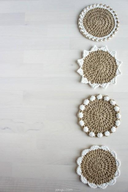 jakigu.com   Jute Coaster Set Crochet Pattern