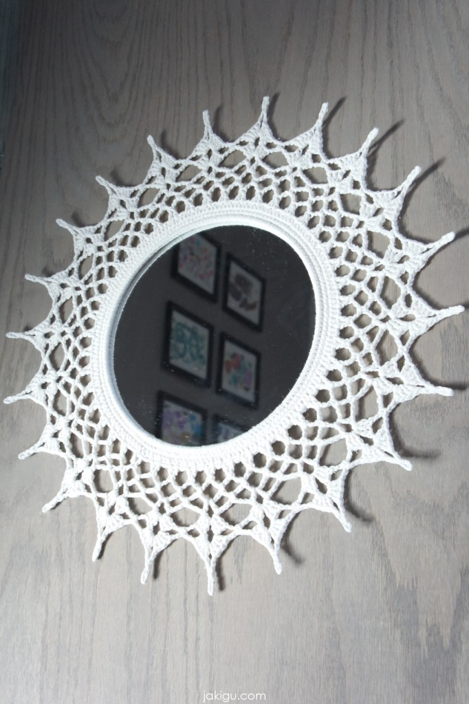 crochet mirror frame | jakigu.com