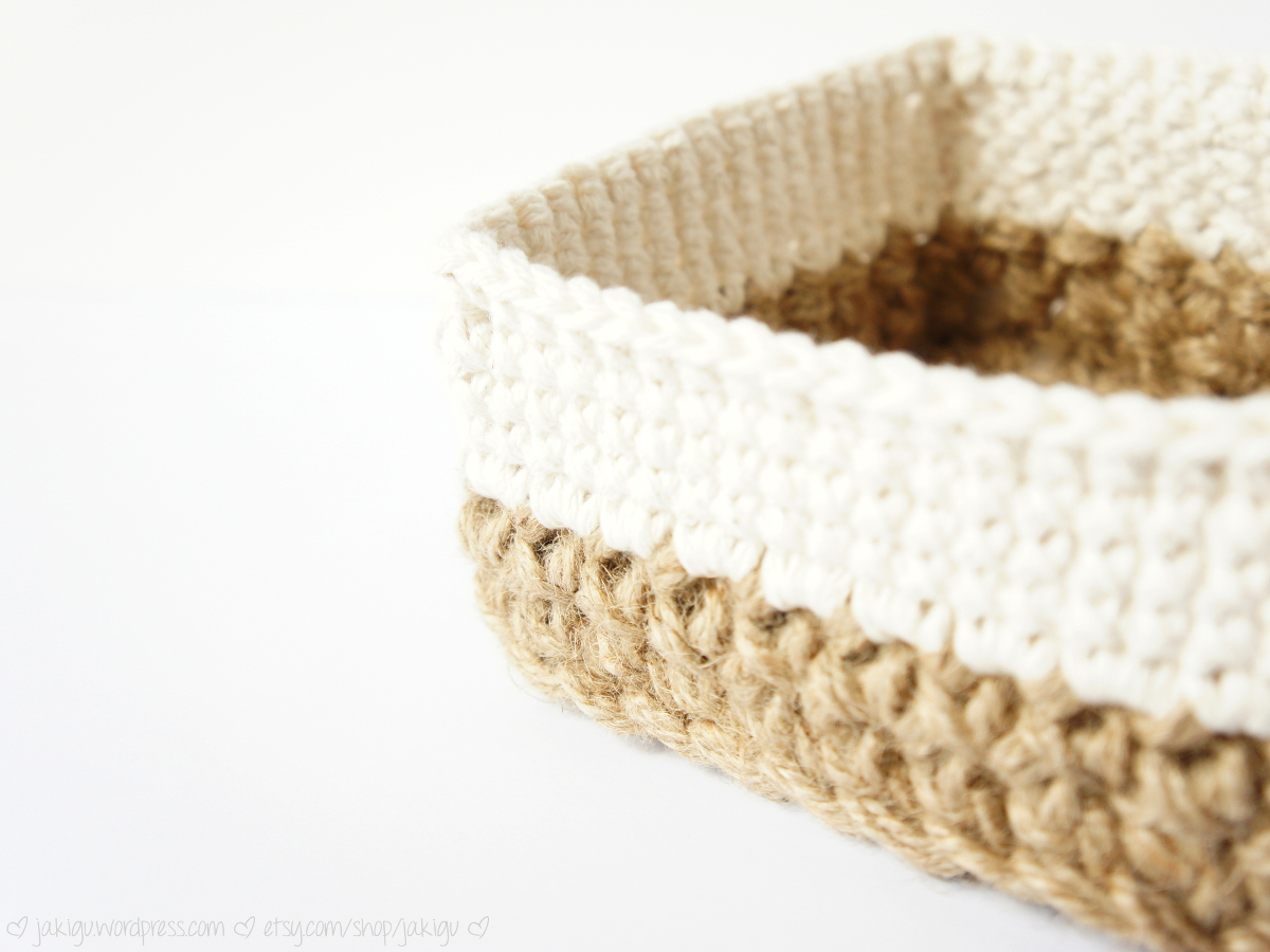 work in progress: square stacking baskets