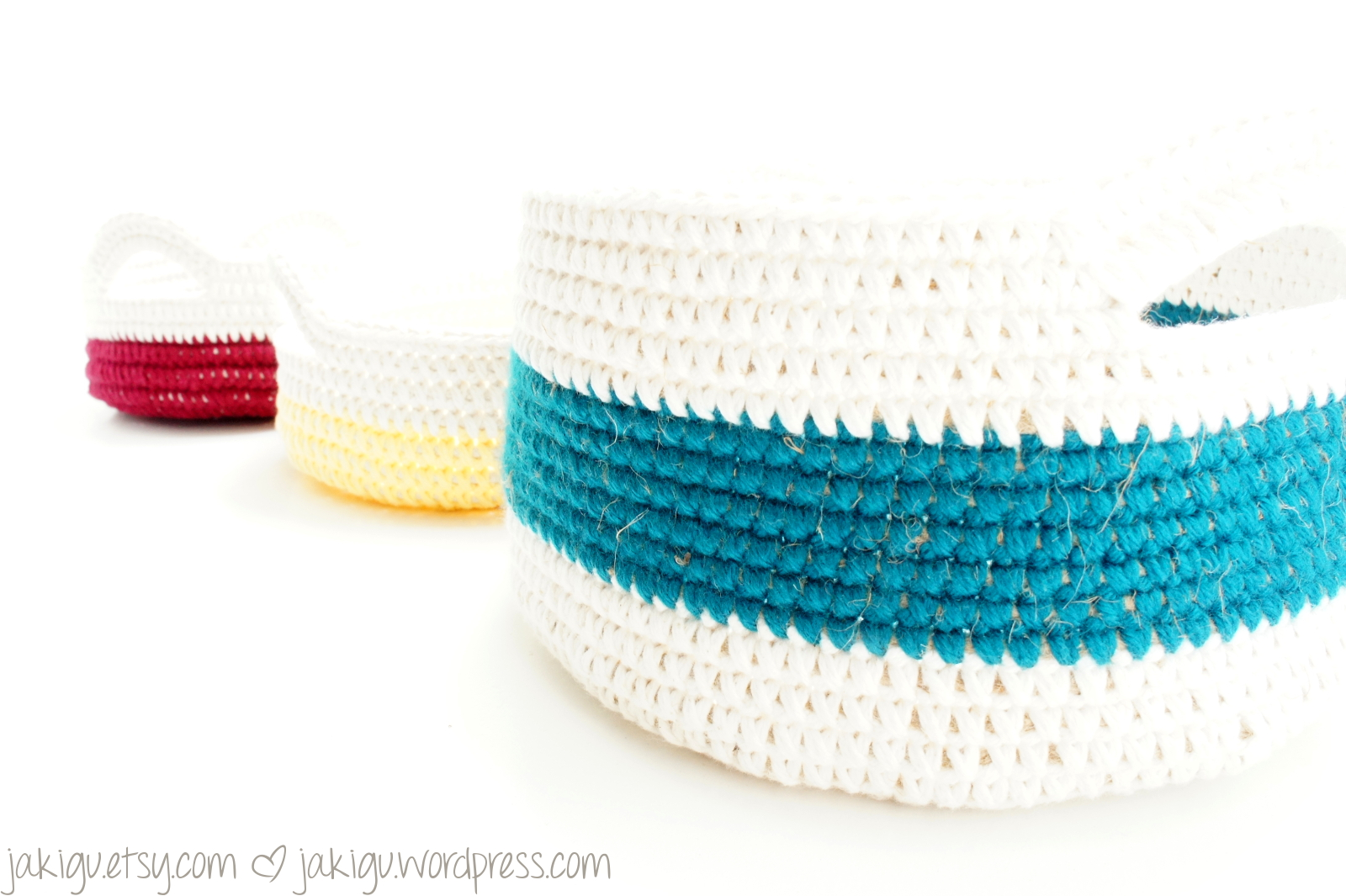 coiled crochet baskets