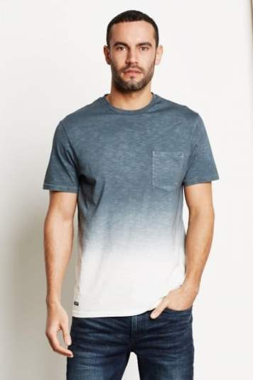 Threadbare Dunbar Ombre Pocket T Shirt