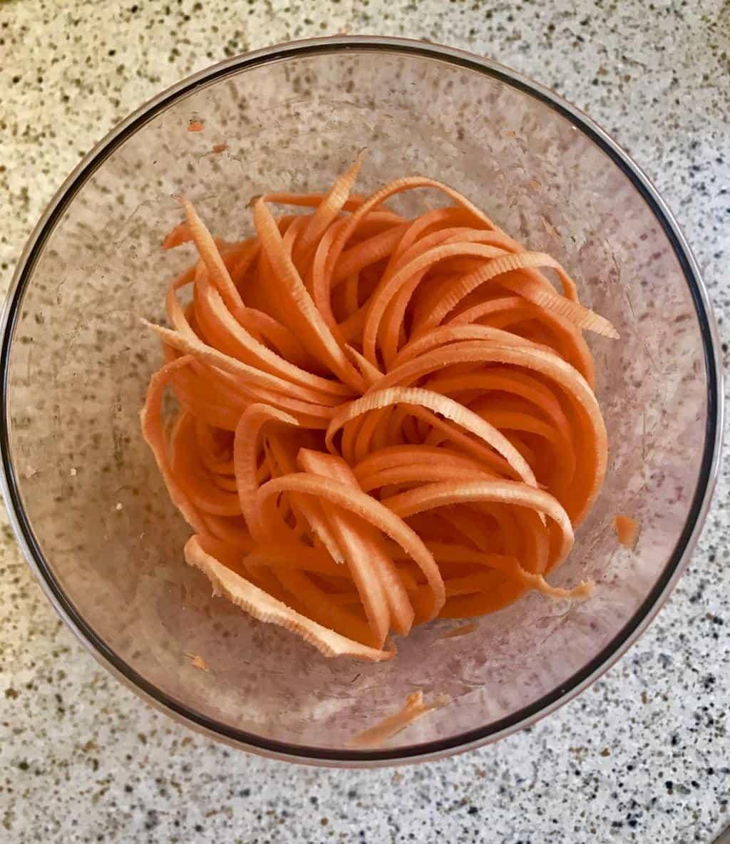 Spiralized sweet potato