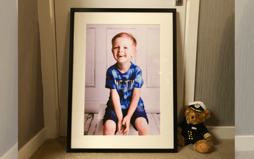 Little Boy In A Big Picture