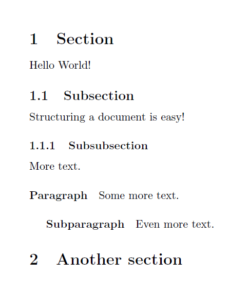 more section