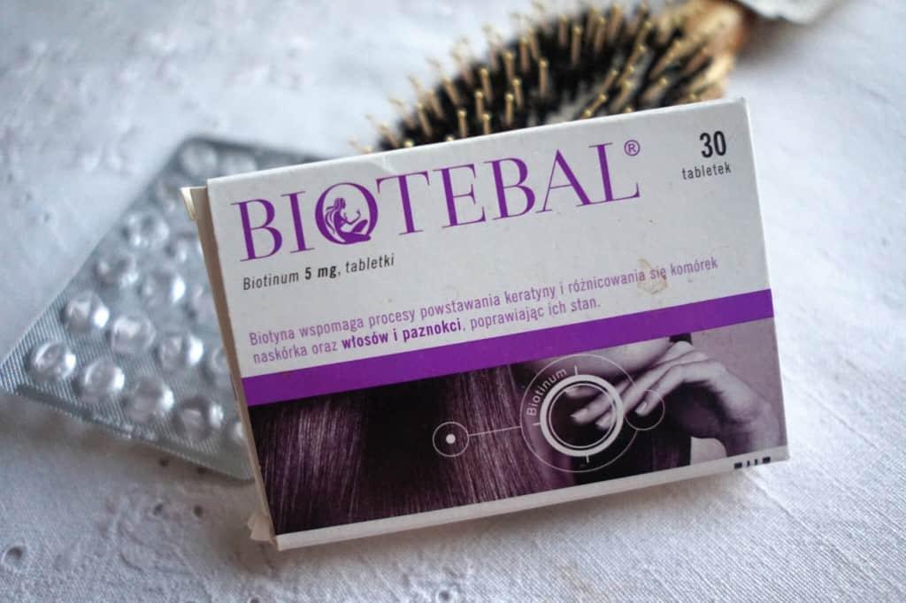 Pierwsze efekty po miesięcznej kuracji tabletkami Biotebal (biotyna 5 mg)