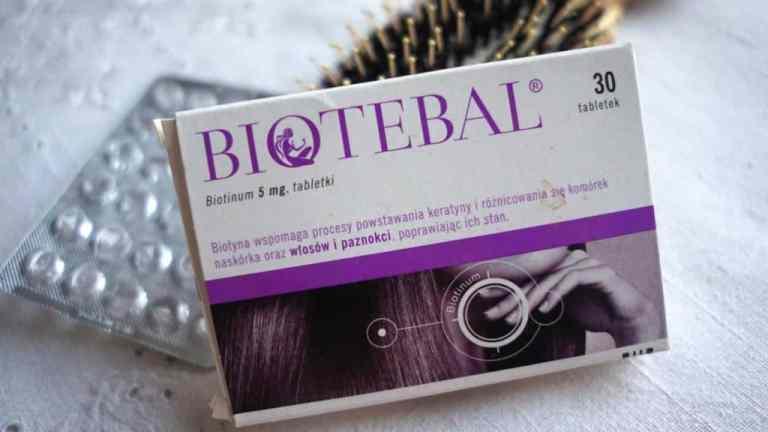 Biotebal, biotyna na porost włosów- efekty po miesiącu