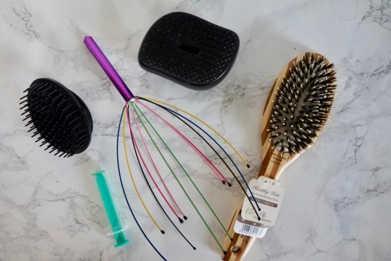 Wcierki do włosów masaż
