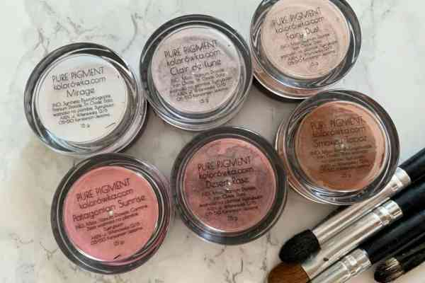 OH! PURE PIGMENT, cienie mineralne-swatche i opinia
