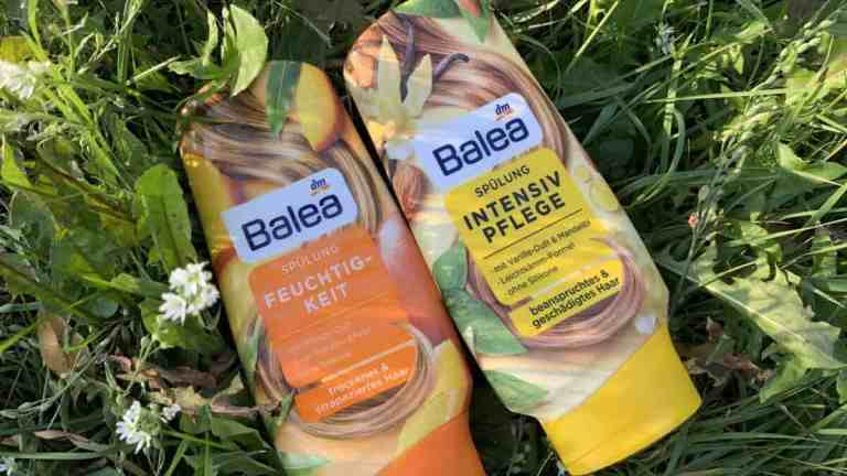 Odżywki Balea z drogerii DM: mango i wanilia