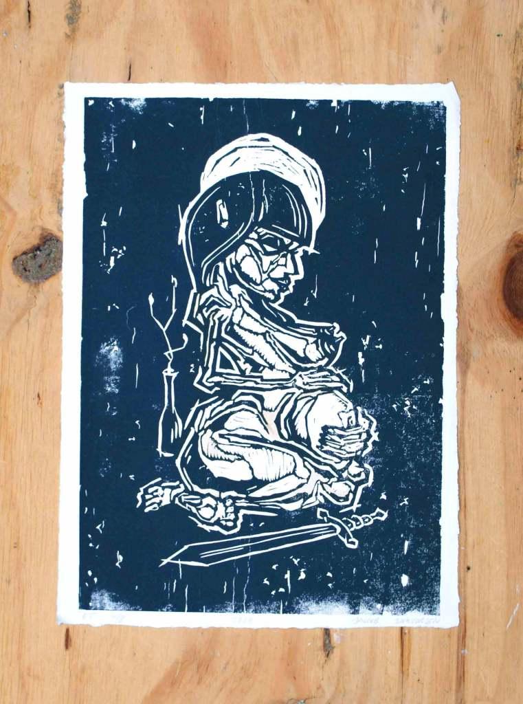 Kvinde beskytter sin ufødte baby