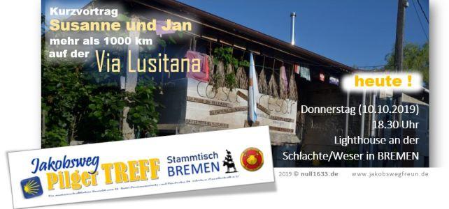 10.10.2019, 18.30 Uhr – Jakobsweg PilgerTREFF – Stammtisch BREMEN – Treffen mit und für Pilger