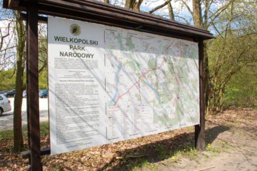 Mapa Wielkopolskiego Parku Narodowego