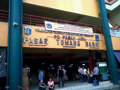 Pasar Tomang milik PD Pasar Jaya. Salah satu lokasi outlet baru Bank DKI diresmikan disini. (istimewa)