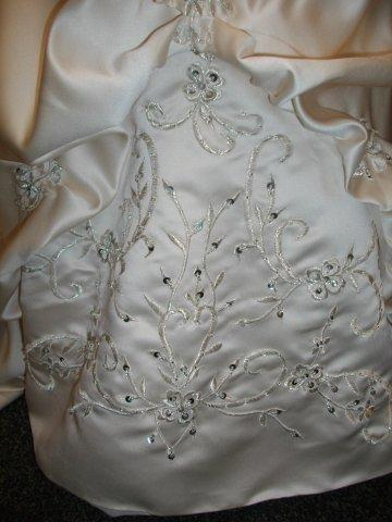 detailed embroidery flower girl dress