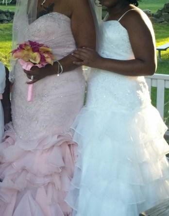 Daughters matching flower girl dress.