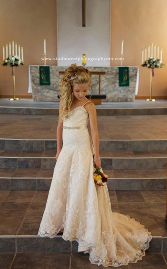 match my wedding dress for my flower girl dress