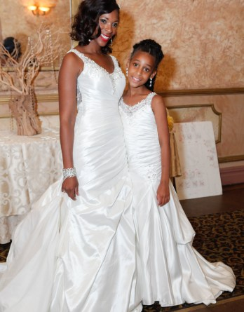 Mermaid illusion neckline wedding dresses for flower girls.