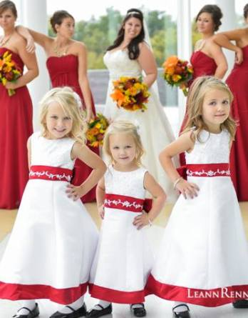 Flower girl dresses with color