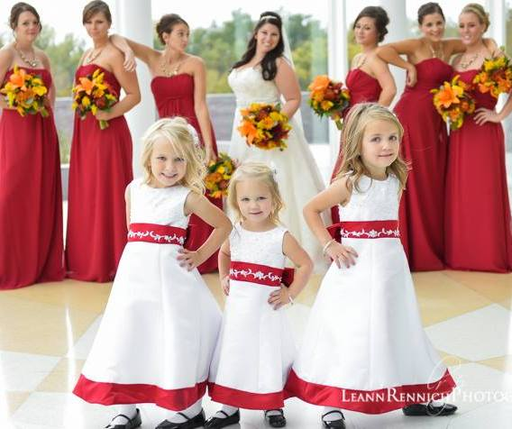 Red and white flower girl dresses red and white toddler flower girl red and white flower girl dresses mightylinksfo