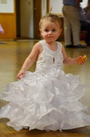 6-12 month size flower girl dresses with ruffles