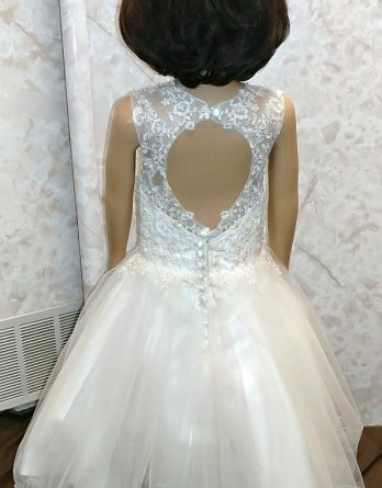 open back flower girl dresses