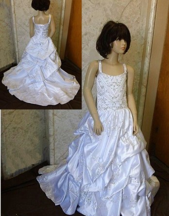 Pick Up flower girl ball gown