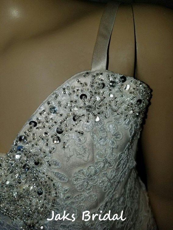 lace flower girl dress train