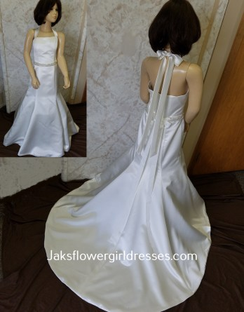 trumpet flower girl dress