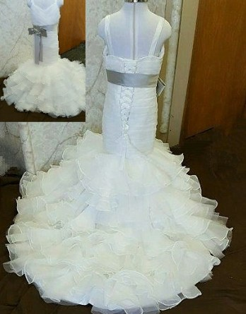 ivory mermaid flower girl dress
