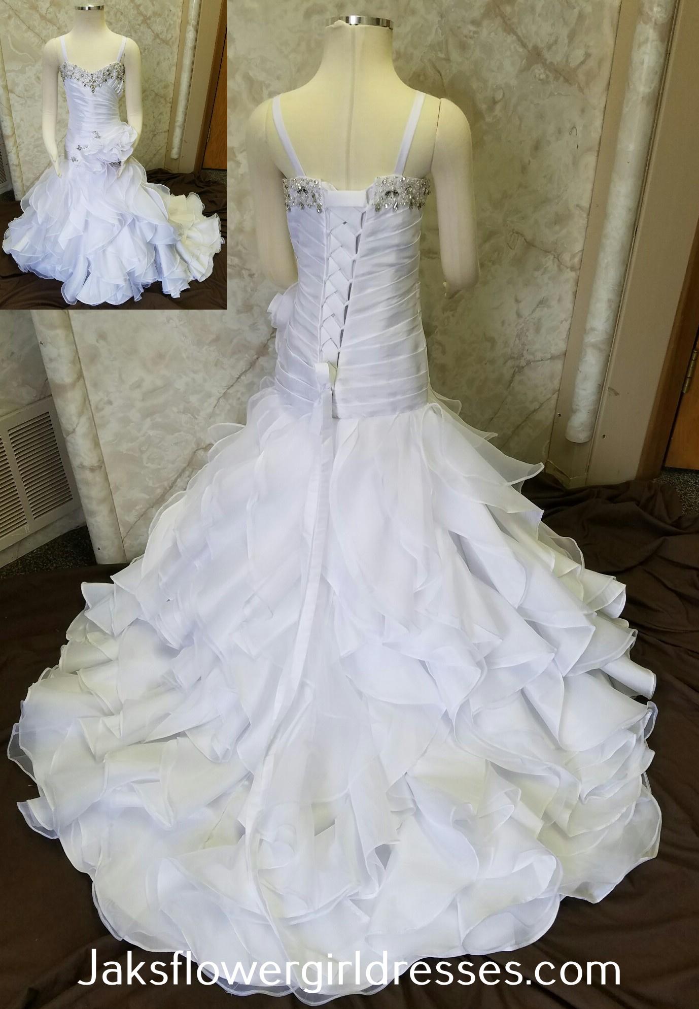 6c7813663a9 Trumpet flower girl dresses. Trumpet mermaid dress with ruffle ...