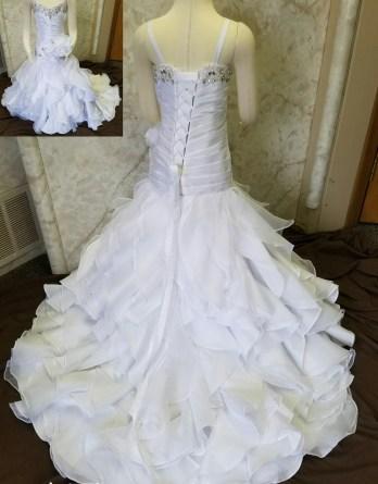 flower girl dress to match Christina Wu 15513 wedding dress