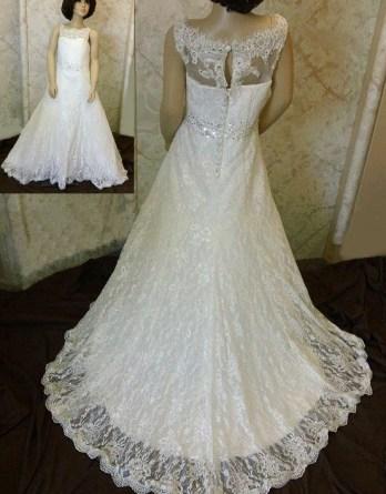 Match my wedding dress for my flower girl.