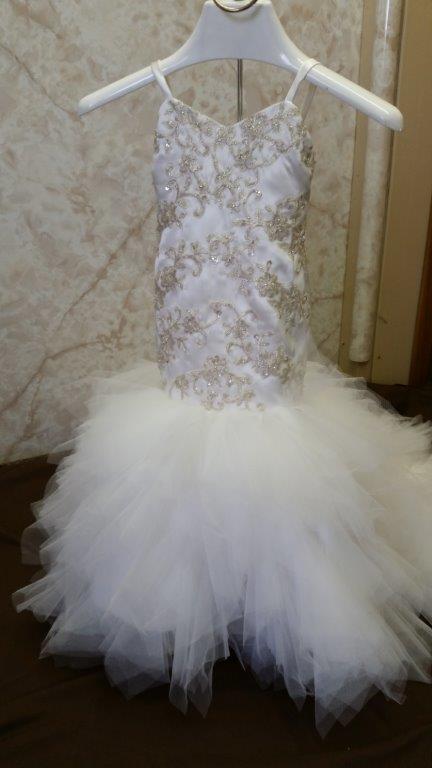 flower girl mermaid style dresses