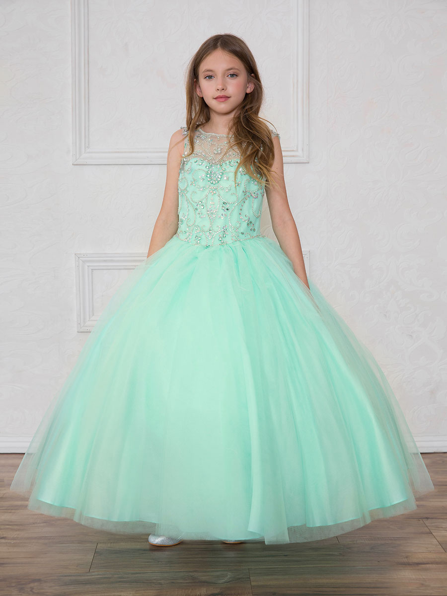 Little girls ball room gowns. Little girls will look beautiful on ...