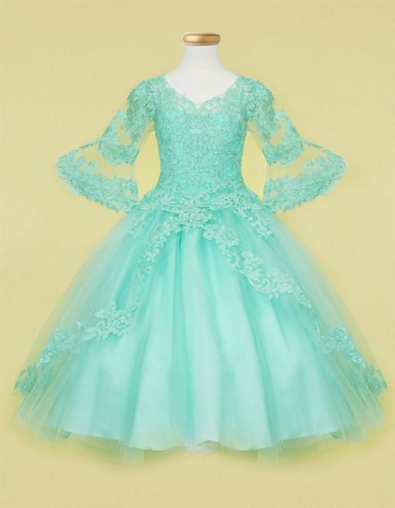 Aqua Ball Gown Dress