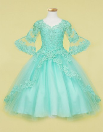 Aqua Ball Gown Dress
