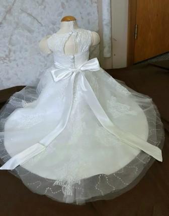 baby flower girl open back dress