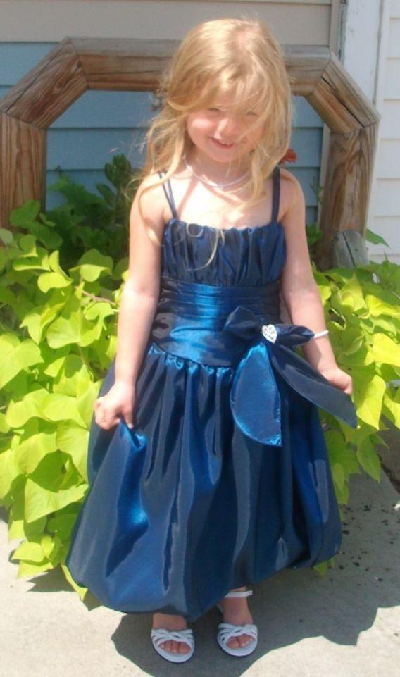 teal girls holiday dress