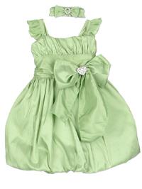 apple green baby dress