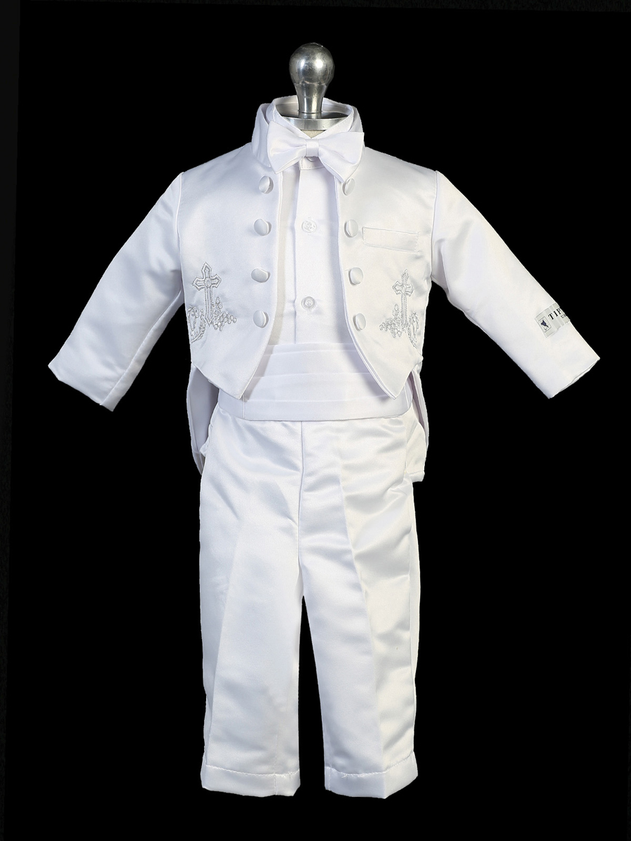 90ea667a2 Boys christening outfit with christian cross embrodery.