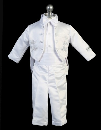 boys christening outfit with cross