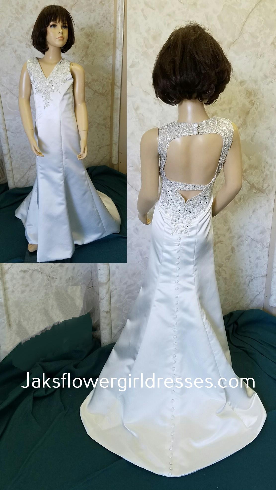 Open Back Flower Girl Dress