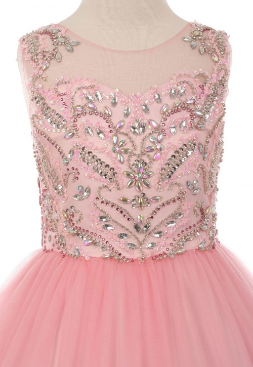beaded pageant dress