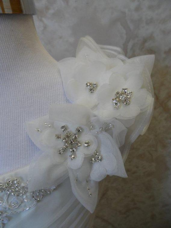 one shoulder flower girl dress