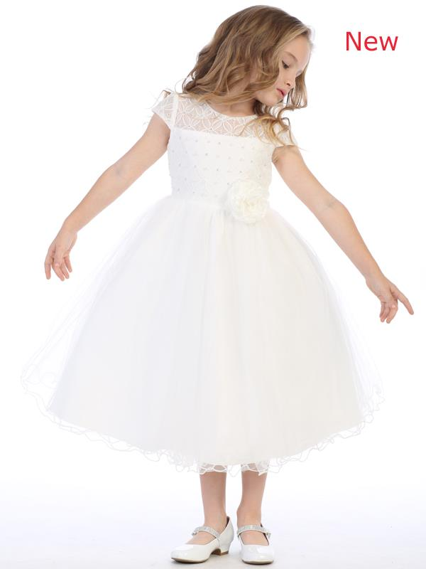 Girls plus size dresses. Corded lace dresses in size 2T to 20X.
